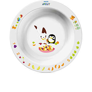 White Toddler bowl big 12m+