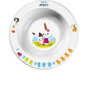 Avent Lille dyb tallerken til små børn 6m+