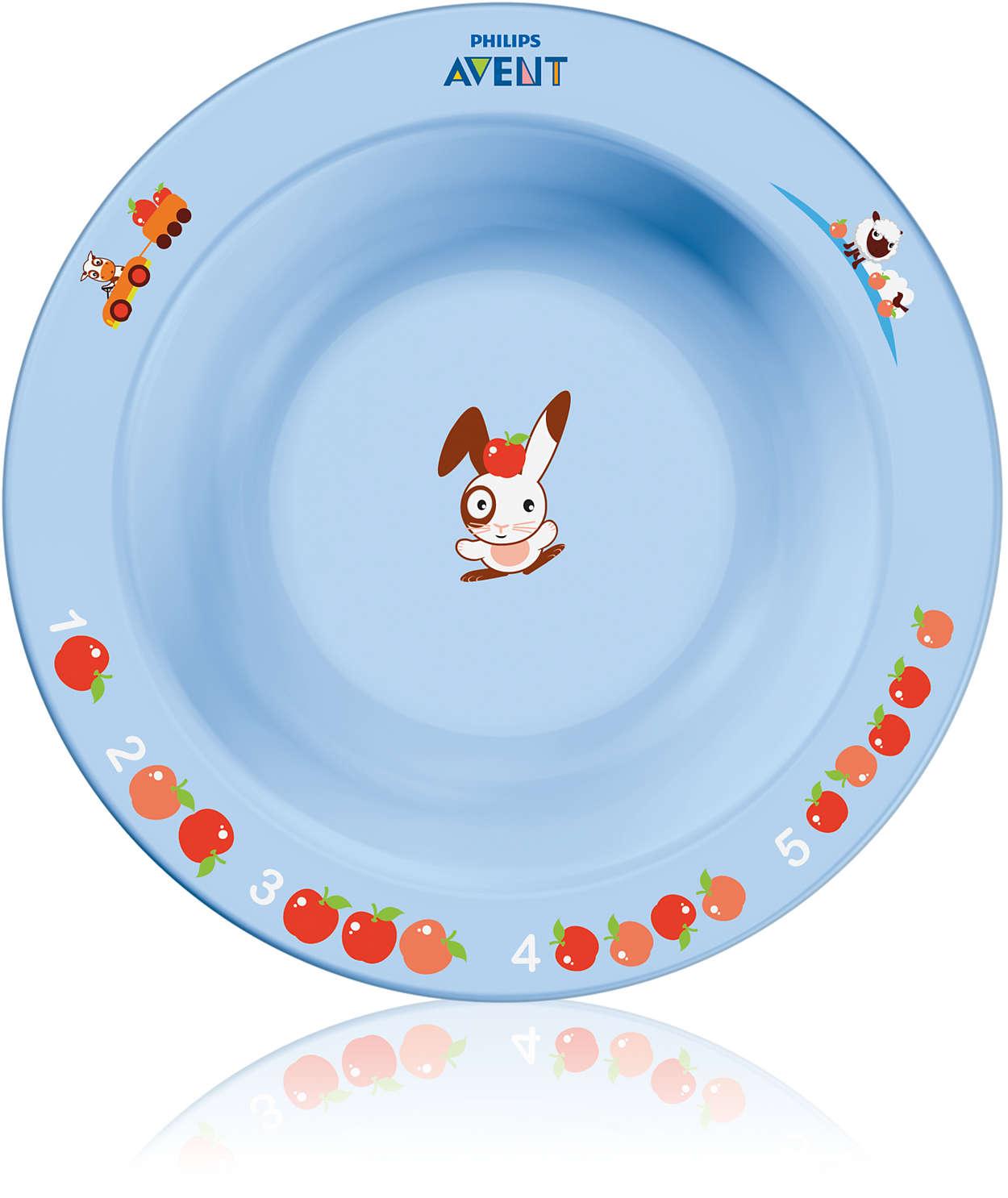 Zachęca do jedzenia poprzez naukę i zabawę