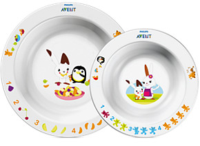 SCF708 00 TODDLER 2 BOWL SET 6M