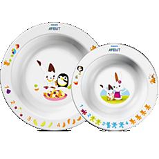 SCF708/00 Philips Avent Set infantil de 2 platos hondos, 6m+