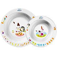 Set infantil de 2 platos hondos, 6m+