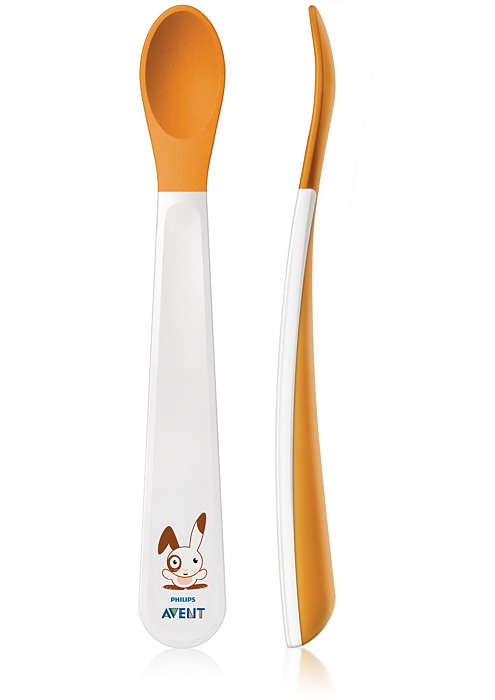 Weaning spoons with soft tip