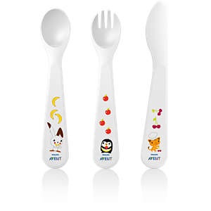 Avent Toddler fork, spoon and knife 18m+