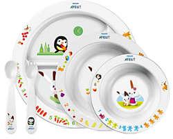 BPA-frit måltidssæt for små børn 6 m+