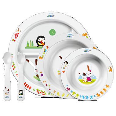 Avent Set de hrănire pentru copii mici peste 6 luni