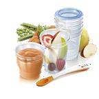 Vasos de almacenamiento de comida Avent