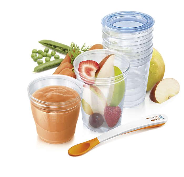 Conserve les aliments à la maison ou dehors