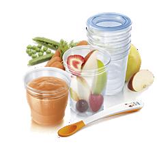 SCF720/10 Philips Avent Copos de armazenamento de alimentos Avent