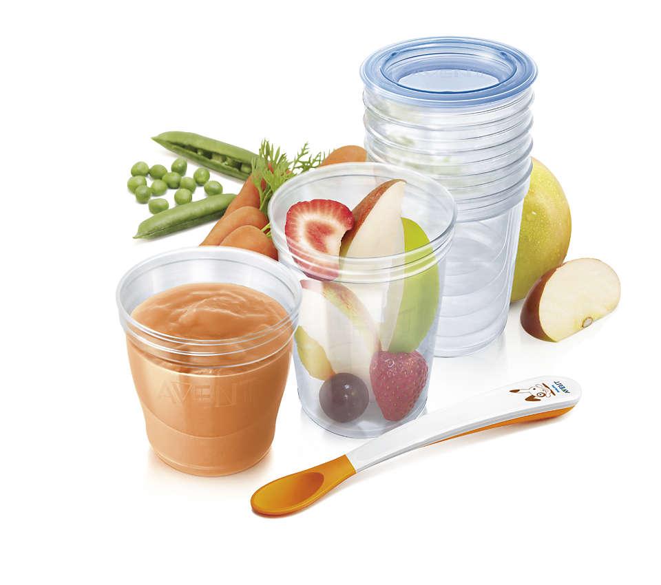最適合在家中和外出時儲存食物