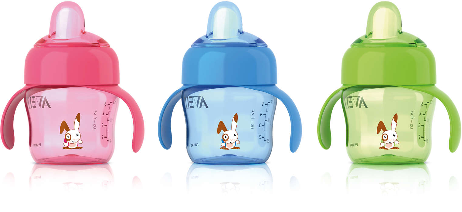 Makkelijke overgang van fles naar beker