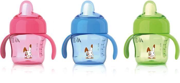 Transição fácil do biberão para o copo