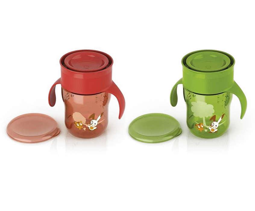 Pomaže u prelasku na čaše za odrasle