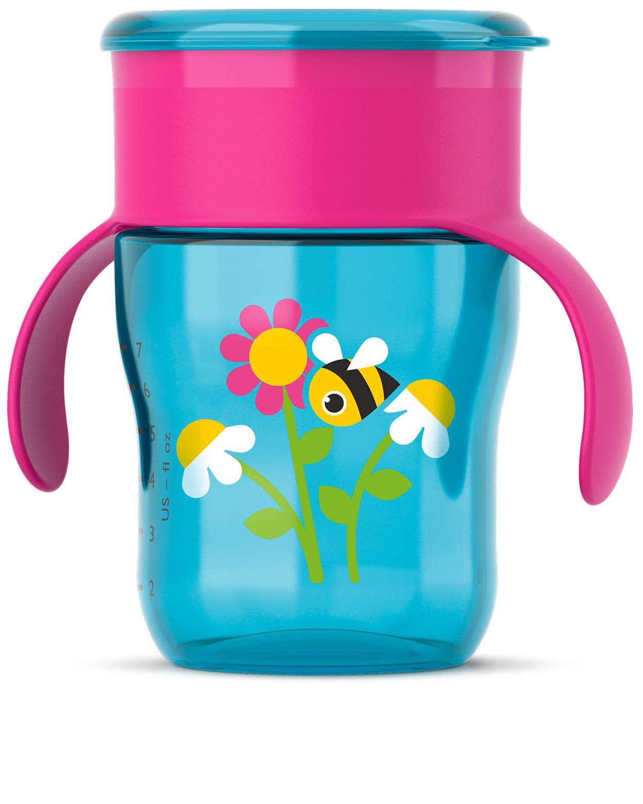 Hỗ trợ bé chuyển sang giai đoạn uống nước