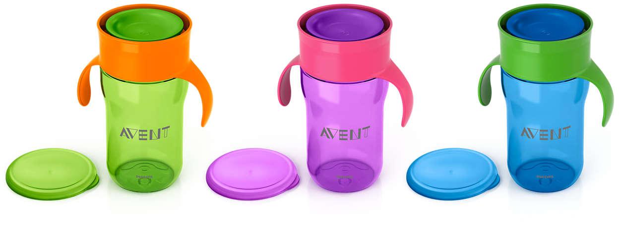 유아용 컵에서 성인용 컵으로의 쉬운 전환
