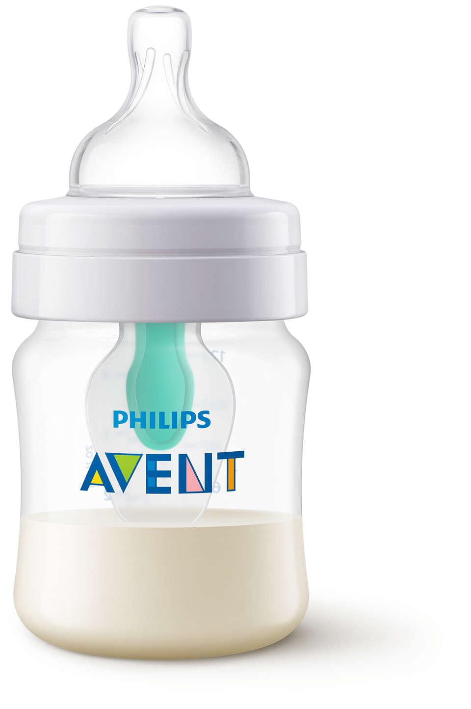 Ideato per ridurre coliche, gas e reflusso*