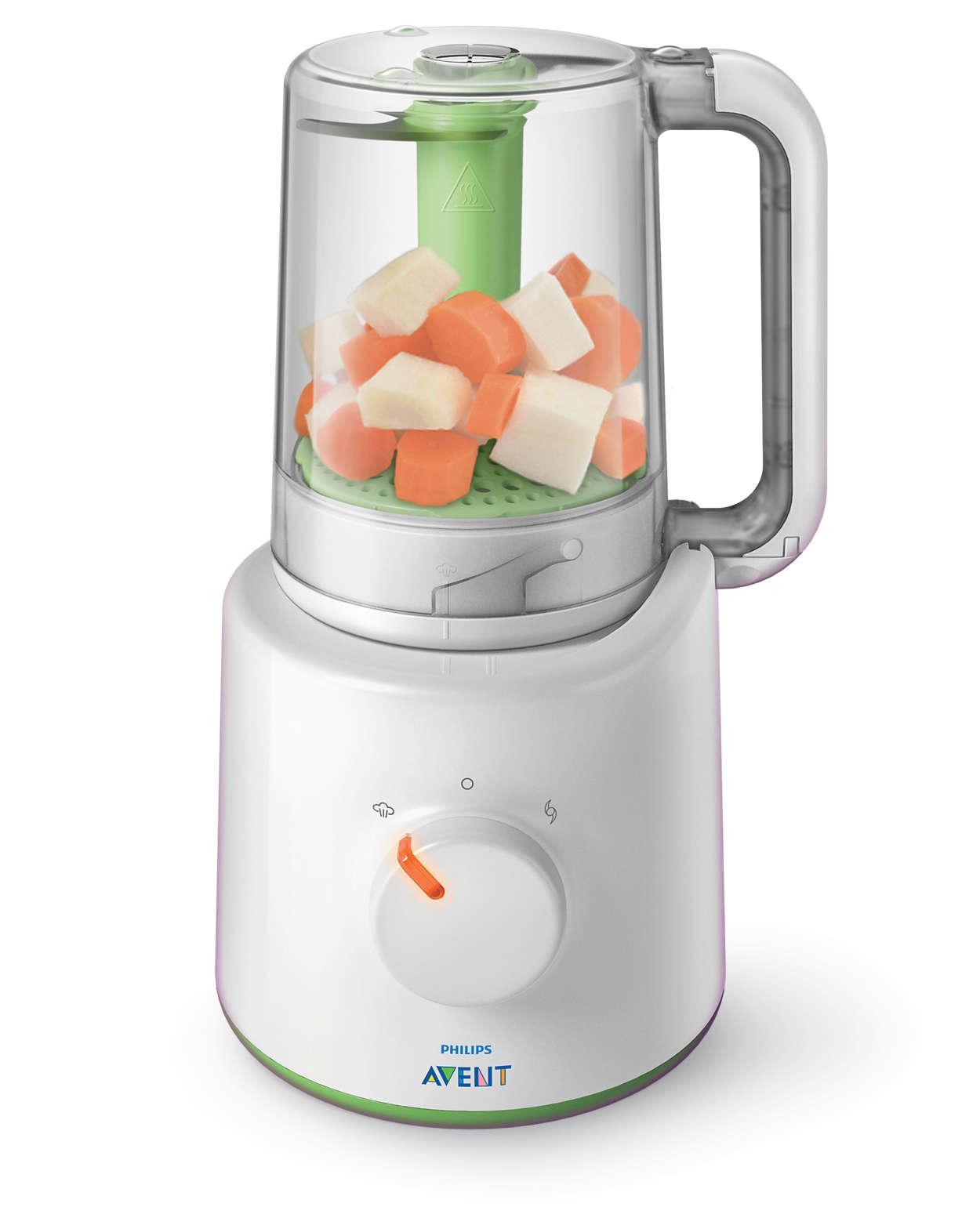 Populära 2-i-1-mixer för hälsosam barnmat SCF870/20 | Philips WN-97