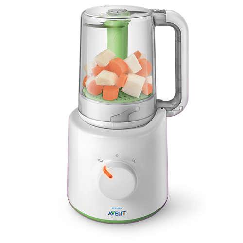 2-i-1-mixer för hälsosam barnmat