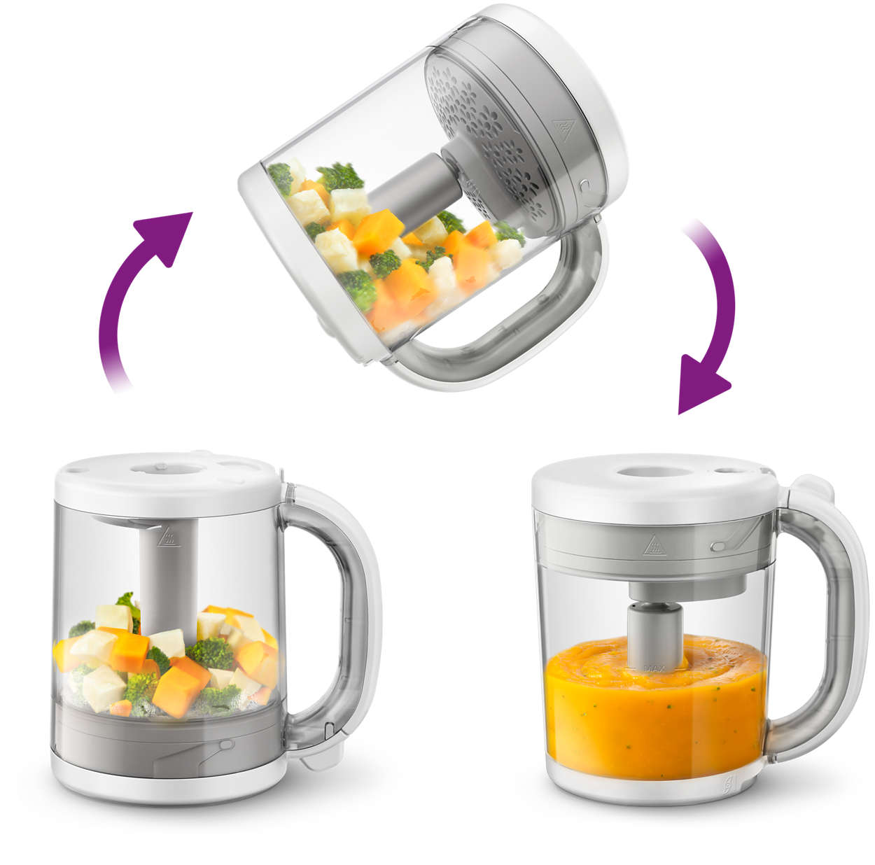 4 In 1 Healthy Baby Food Maker Scf875 01 Philips