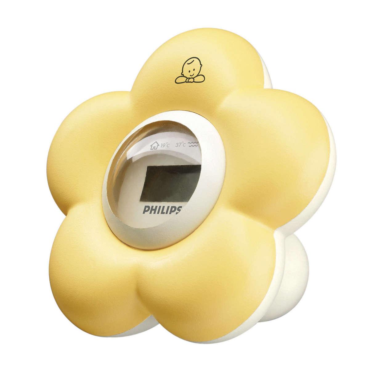 Thermom tre bain et chambre pour b b sch550 00 avent - Thermometre hygrometre chambre bebe ...