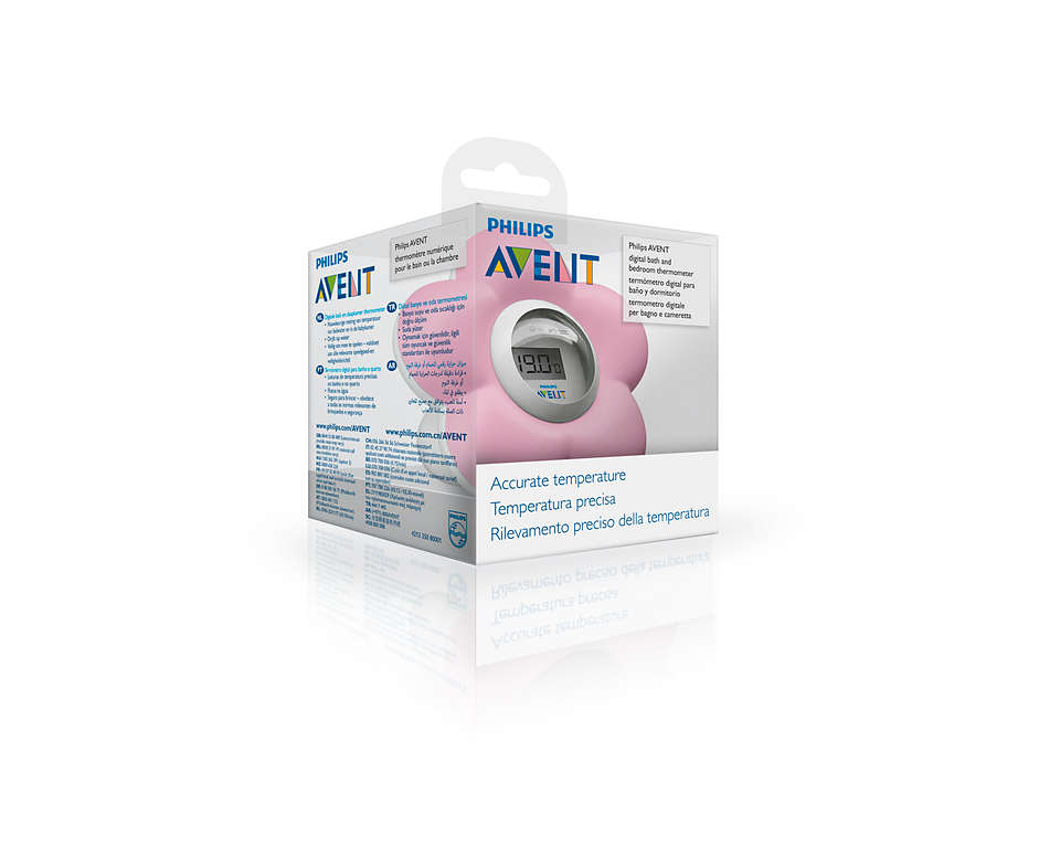 AVENT Pink BathRoom Thermometer