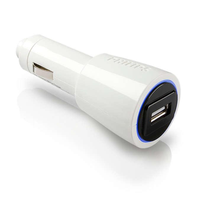 Lataa USB-laitteet matkalla