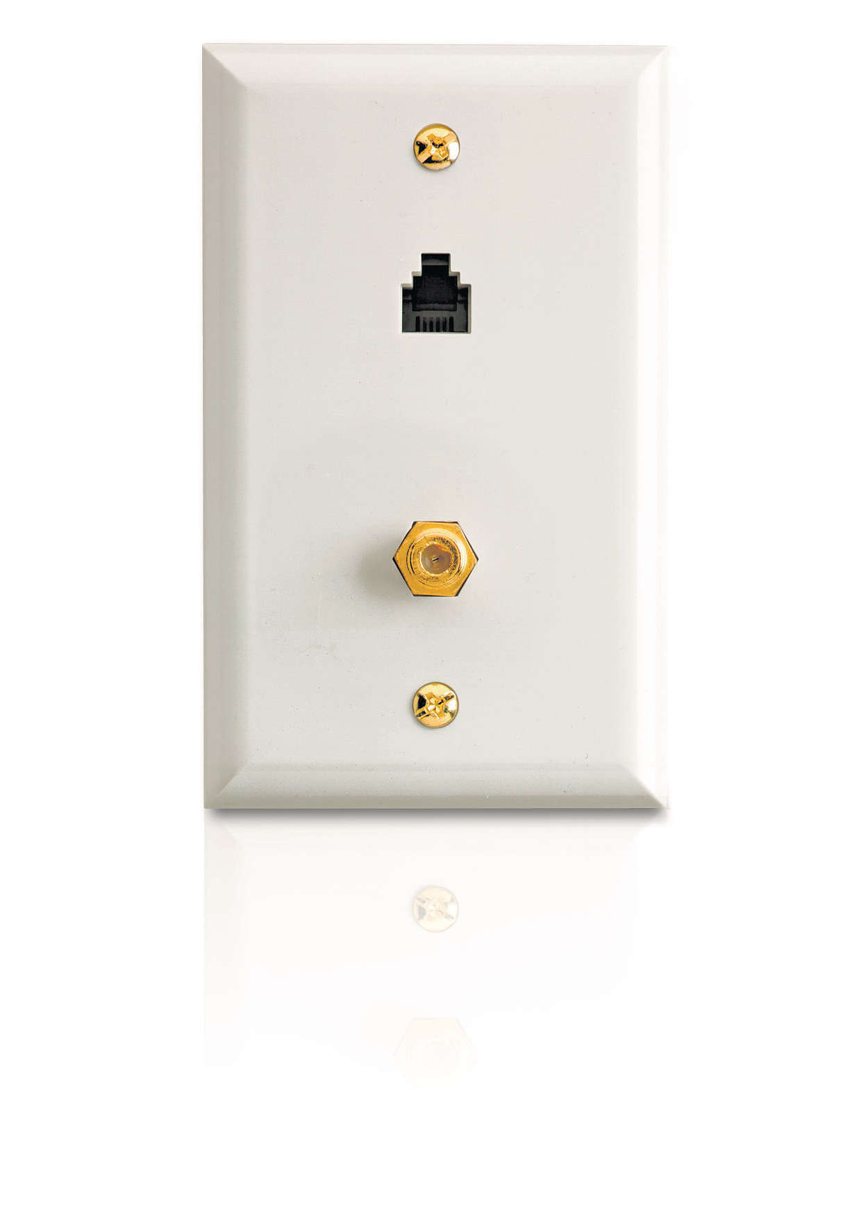 Create a phone and coaxial jack