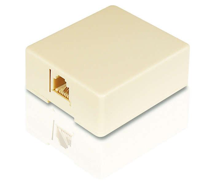 Mount a modular jack
