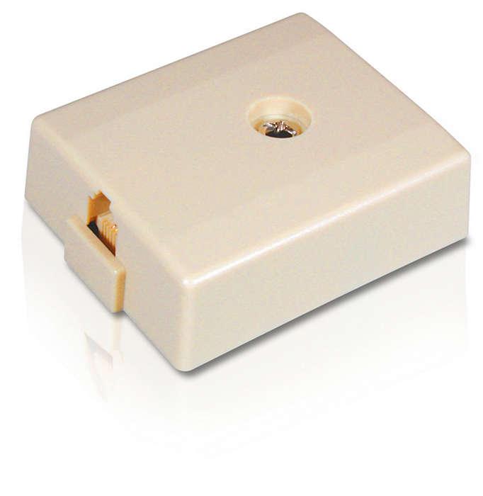 Cover a modular jack