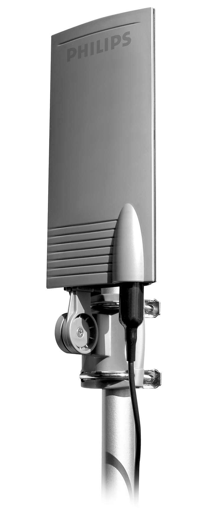 Recibe señales de TV digital y analógica