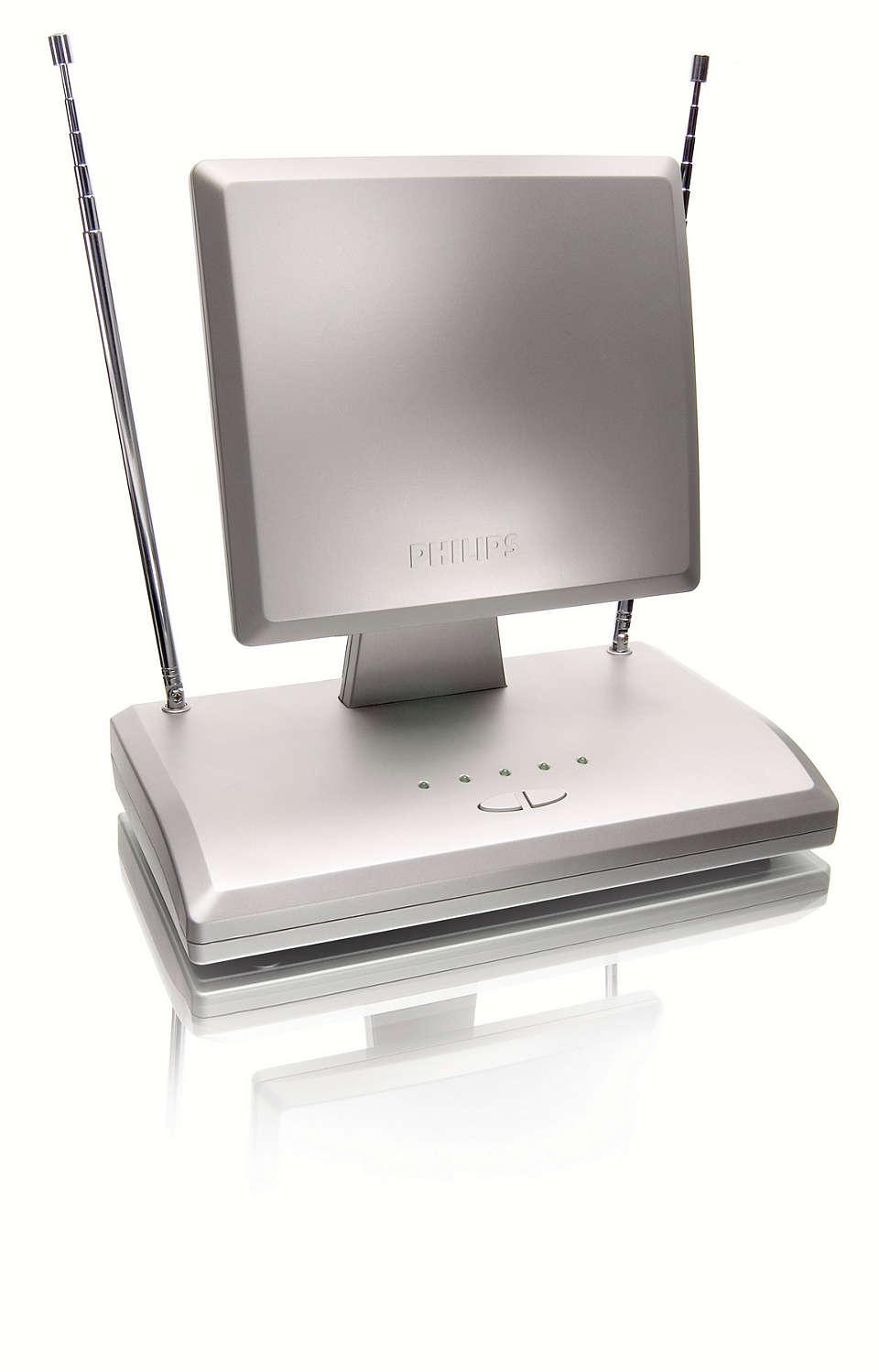 Voor ontvangst van digitale TV- en FM-signalen