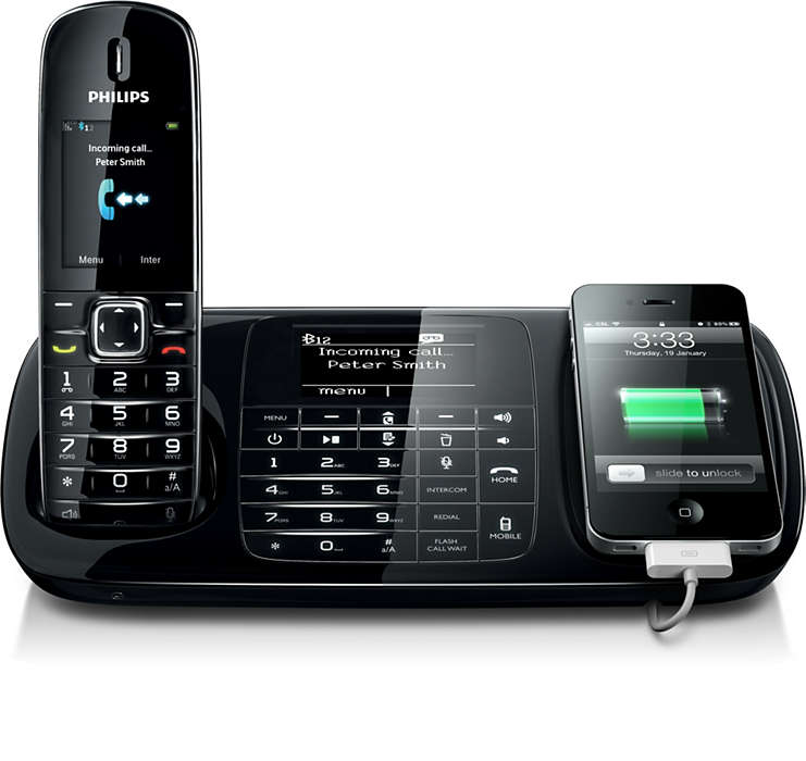Alle samtaler, både via mobil og fastlinje, med én telefon