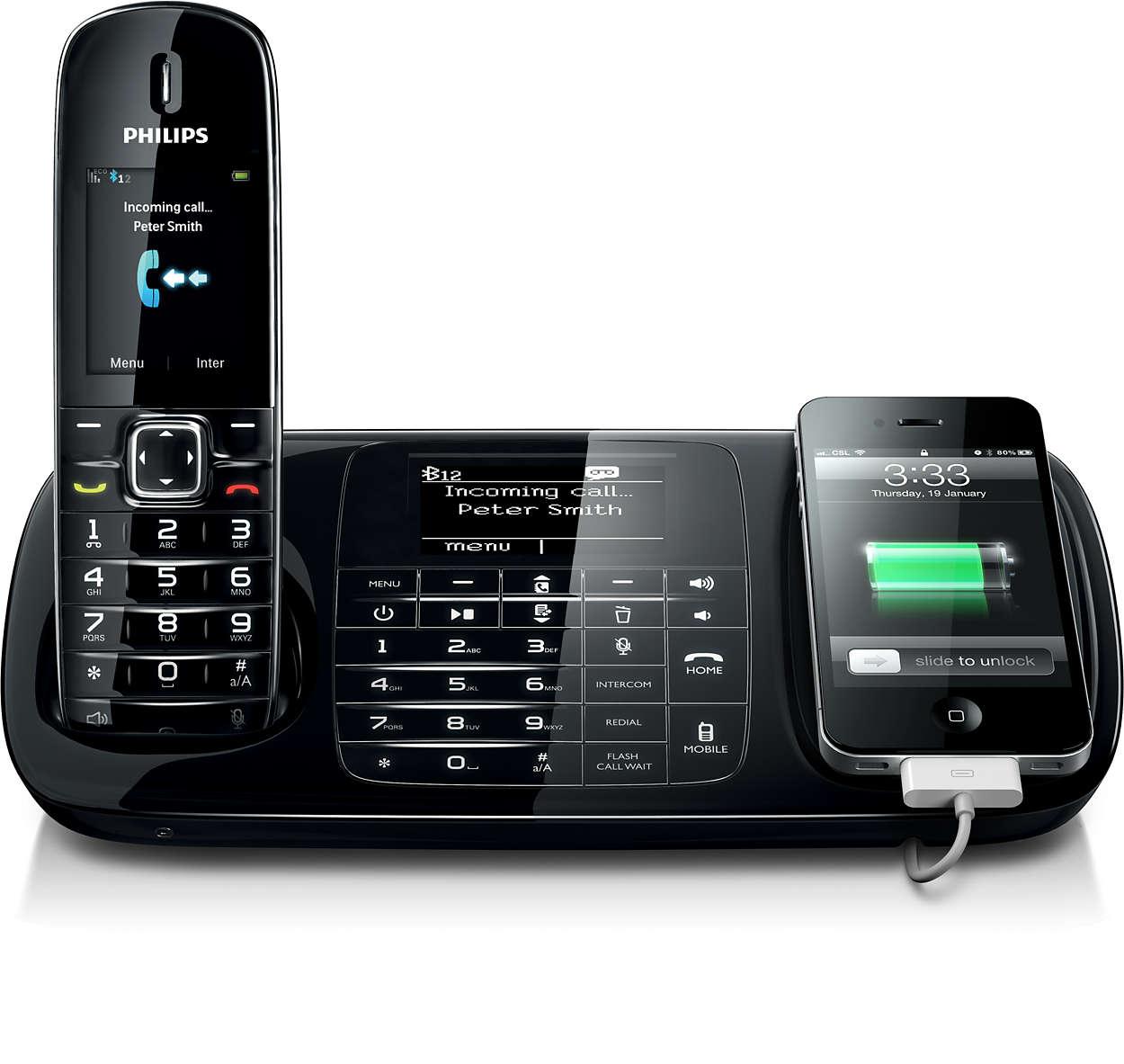 Alla samtal, både markbundna och mobila, på en och samma telefon