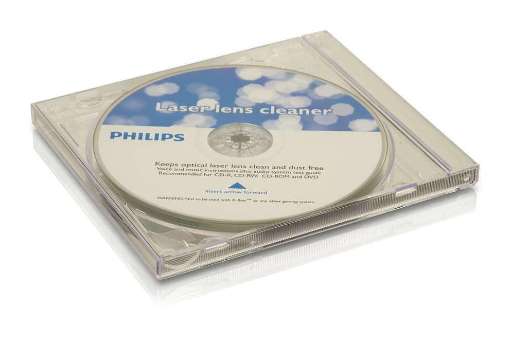 Čistite a ochráňte vaše prehrávače CD a DVD