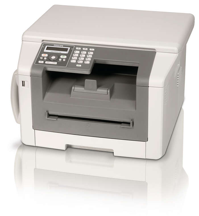 Faxez, téléphonez, photocopiez, imprimez: puissance laser Duplex