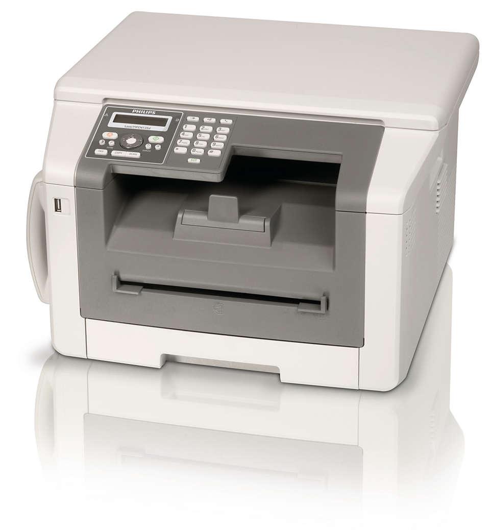 Fax, telefono, copia e stampa con la potenza laser duplex