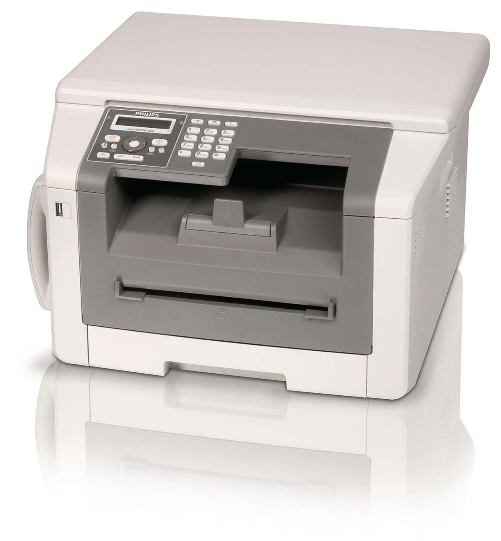Faksaa, soita, kopioi ja tulosta kaksipuolisella laserteholla