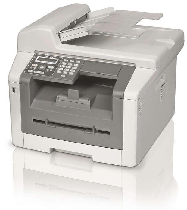 Faxen, WLAN, Kopieren und Drucken über Duplex-Laser
