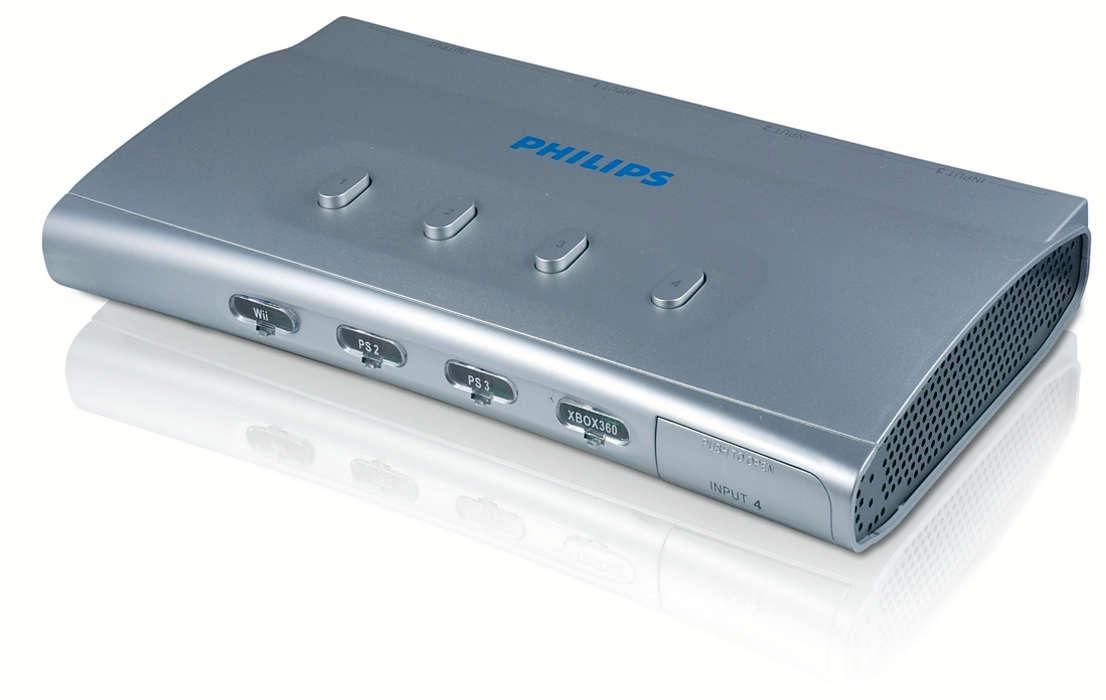 Conecta hasta cuatro consolas de videojuegos