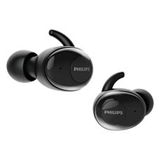 SHB2515BK/10 -   UpBeat Į ausis dedamos iš tikrųjų belaidės ausinės