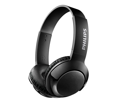 2395e9bcc54 BASS+ Trådløse on-ear-hovedtelefoner med mikrofon SHB3075BK/00 ...