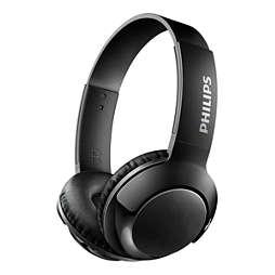 Headphone On Ear nirkabel dengan mikrofon