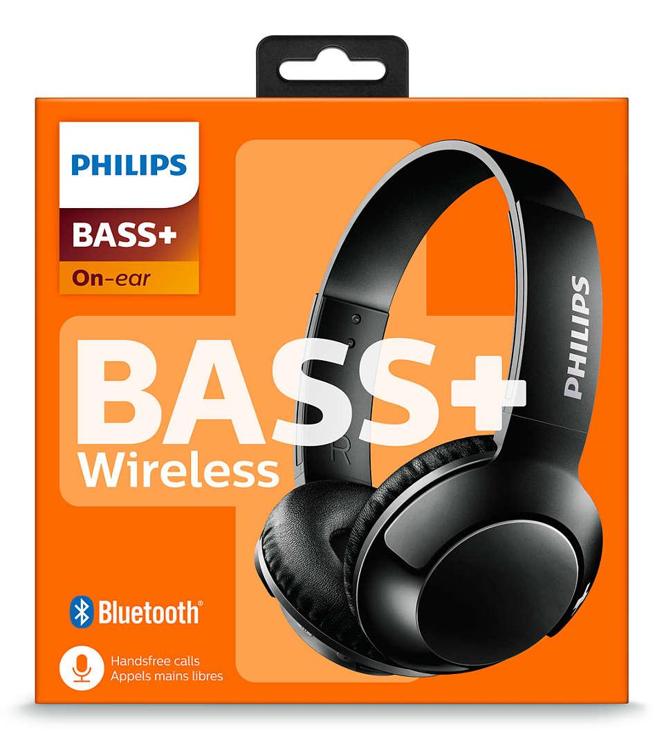 Bass Wireless On Ear Headphone With Mic Shb3075bk 27 Philips