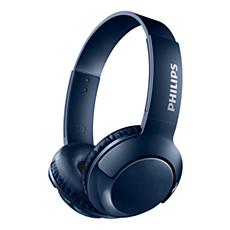 SHB3075BL/00 NULL سماعات رأس لاسلكية على الأذن مزوّدة بميكروفون
