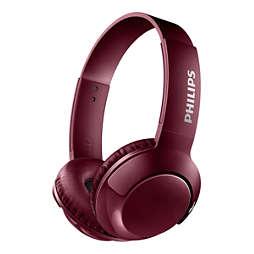Korvat peittävät langattomat kuulokkeet ja mikrofoni