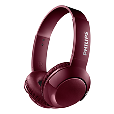 SHB3075RD/00 -   BASS+ Bezprzewodowe słuchawki nauszne z mikrofonem