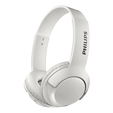 SHB3075WT/00 -   BASS+ Wireless On Ear Headphone with mic