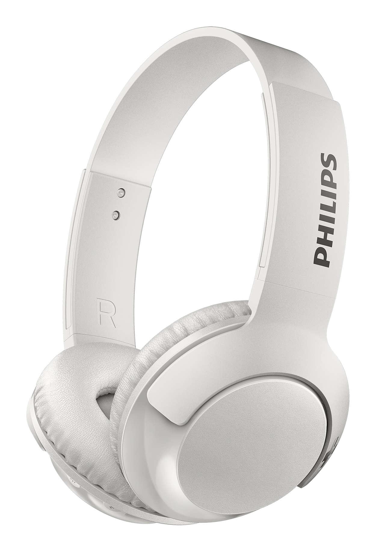 BASS+ Trådløse hodetelefoner med mikrofon SHB3075BK00 | Philips