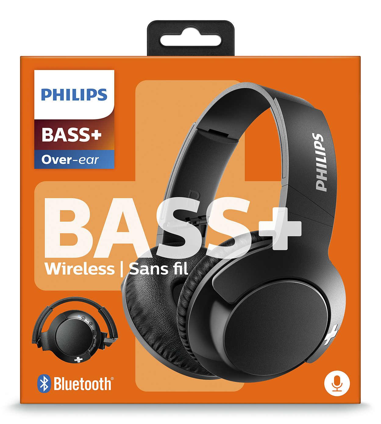 de beste beste leverancier nieuw BASS+ Bluetooth-headset SHB3175BK/00 | Philips