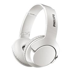 SHB3175WT/00 -   BASS+ Zestaw słuchawkowy Bluetooth